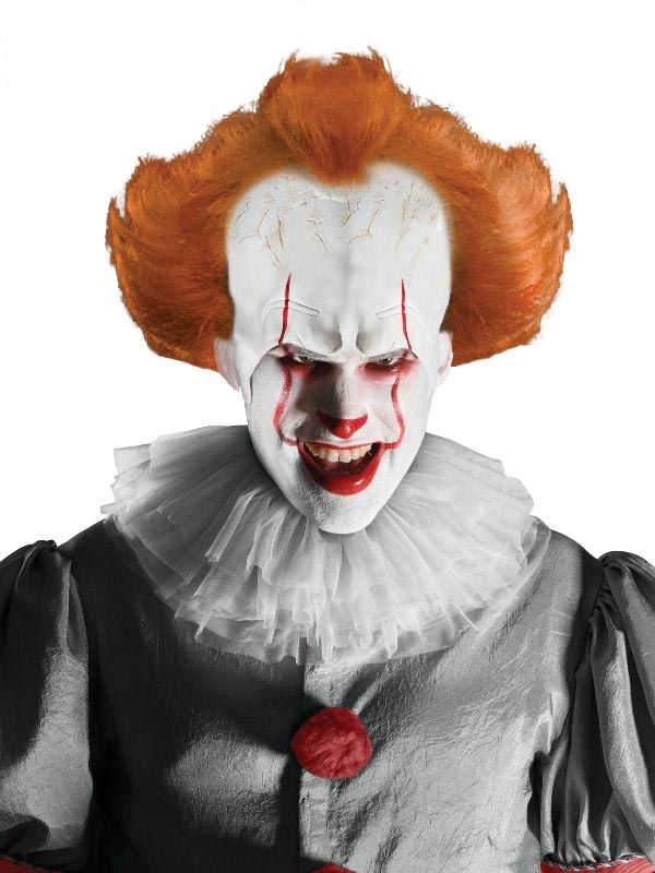 Short Adult Pennywise Wig & Attached Headpiece