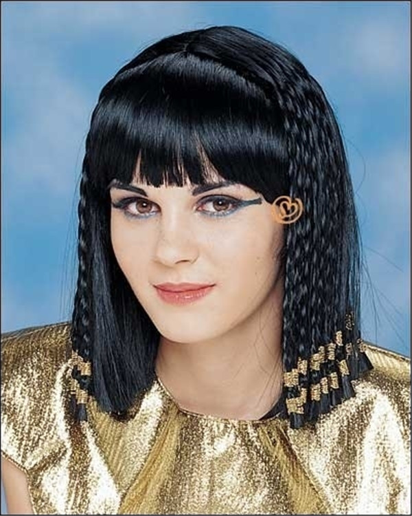 Black Deluxe Queen Of The Nile Costume Braided Wig By Franco