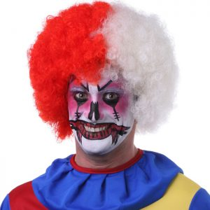 Clown High Quality Costume Synthetic Combo Afro By Sepia Wigs