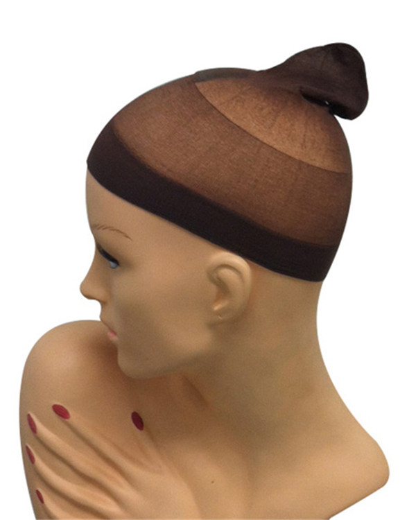 Nylon Salt And Pepper Wig Cap 2pc Set By Wig Pro