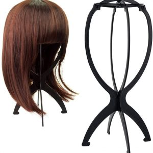 Easy To Wig Stand Folding Stable Hair Hat Cap Holder Display Tool