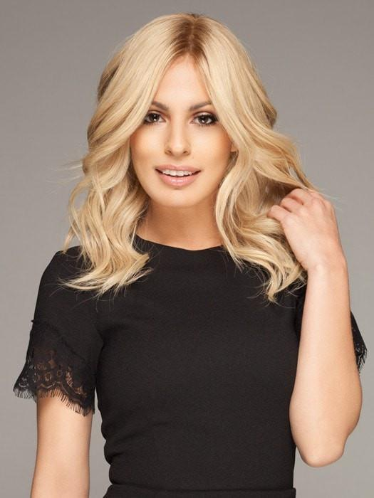 Women's Blonde Remy Human Hair Lace Front Wig Hand-tied By Rooted