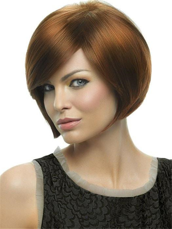 Women's Short Straight HF Synthetic Wig Basic Cap