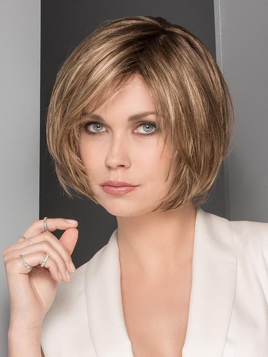 Women's Short Blonde Synthetic Lace Front Wig Hand Tied By Rooted
