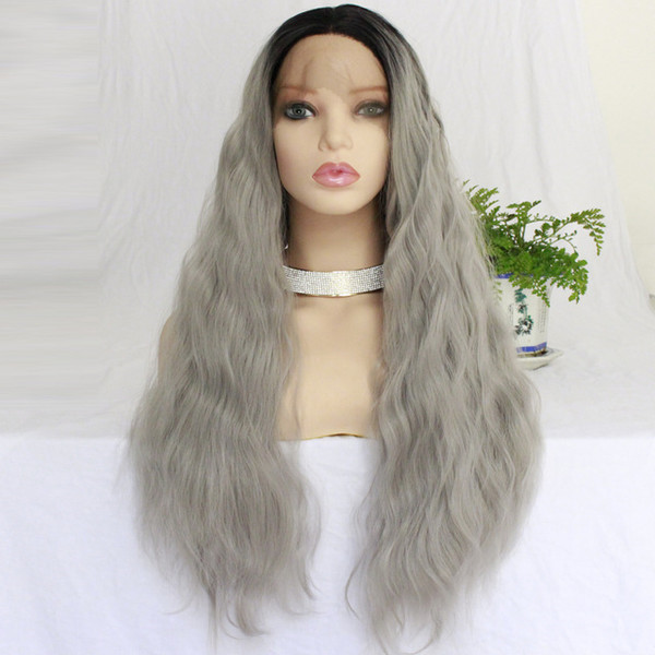 Ombre Wigs With Dark Roots Heat Resistant