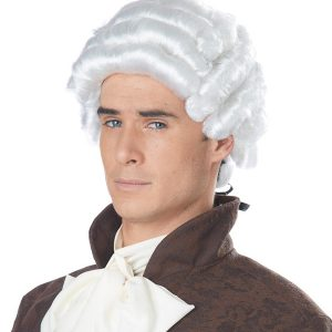 Powder Colonial Period Gentlemen's Wig