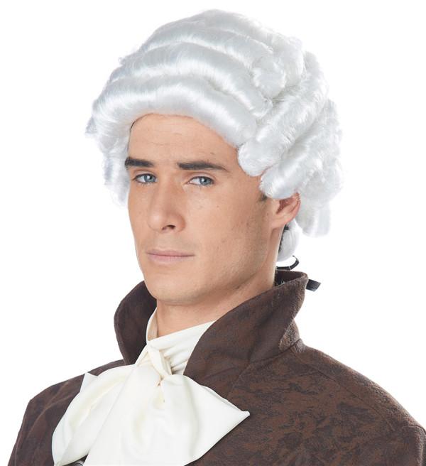 Powder Colonial Period Gentlemen's Wig