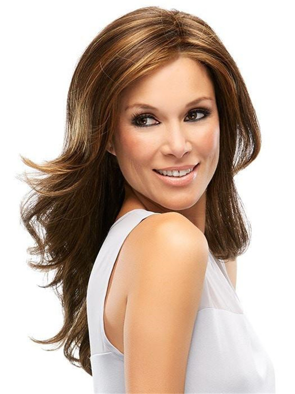 Long Monofilament Synthetic Lace Front Wig Mono Top