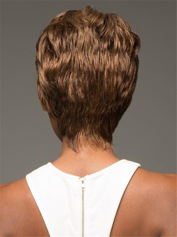 Short African American Synthetic Wig Basic Cap For Women