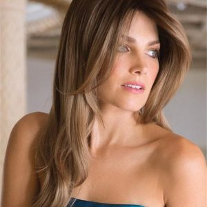 Long Straight Layered Synthetic Wig Basic Cap For Women