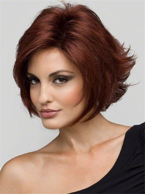 Short Monofilament Synthetic Lace Front Wig Mono Top For Women