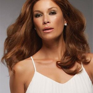 Long Brunette Remy Human Hair Lace Front Wig Hand-Tied