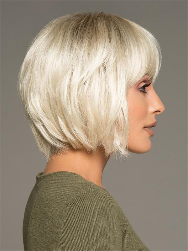 Short Straight Blues Synthetic Wig For Women