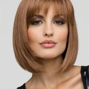 Short Monofilament Synthetic Wig Mono Top For Women