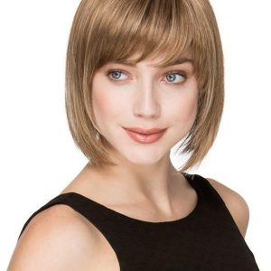 Straight Brunette Synthetic Wig Mono Crown