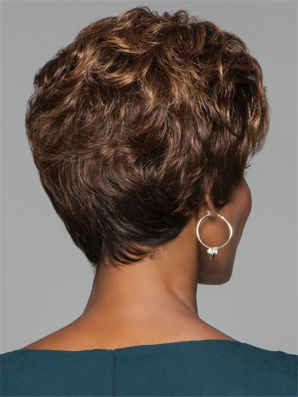 Curly Short Synthetic Wig Basic Cap