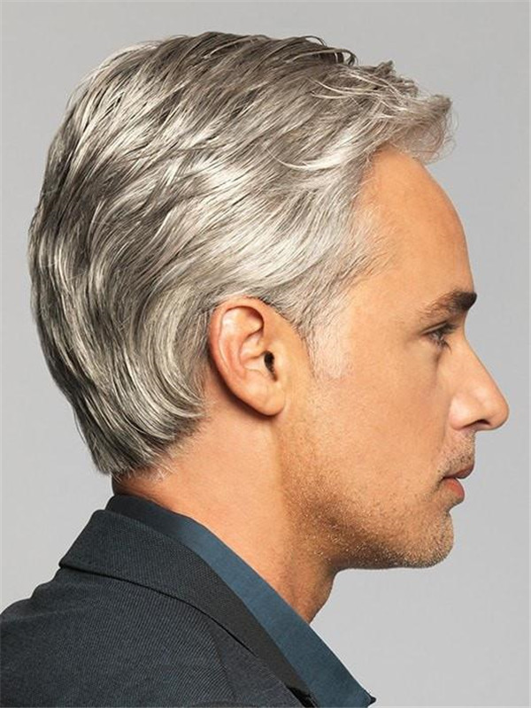 Monofilament Short Classic Hf Synthetic Lace Front Wig Mono Top