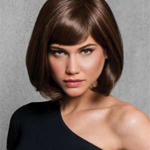 Straight Mid-length Hf Synthetic Wig Basic Cap