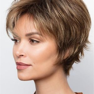 Layered Synthetic Straight Wig Basic Cap For Women