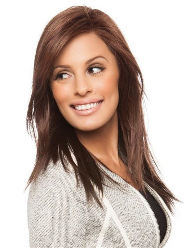 Long Straight Synthetic Lace Front Wig Mono Part
