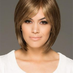 Mid-Length Monofilament Synthetic Wig Mono Top