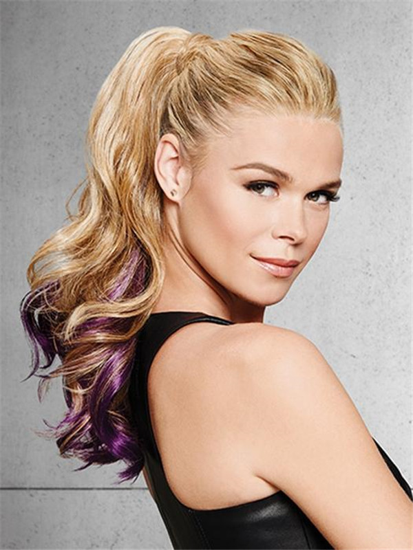 Colored HF Synthetic Ponytail Wrap-Around All Hairpieces