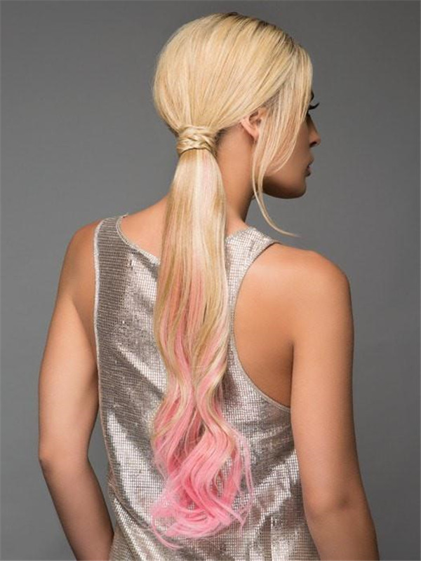 All Hairpieces HF Synthetic Ponytail Wrap-Around Hair Wraps