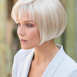 Short Brunette Bob Synthetic Wig Basic Cap