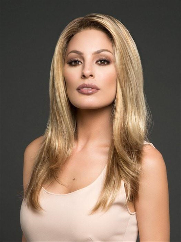 Long Layered Synthetic Lace Front Wig Mono Top