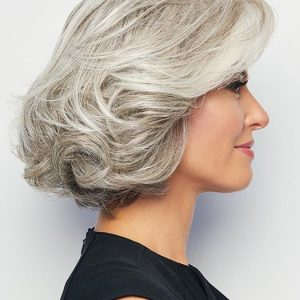 Short Curly Hf Synthetic Lace Front Wig Mono Part
