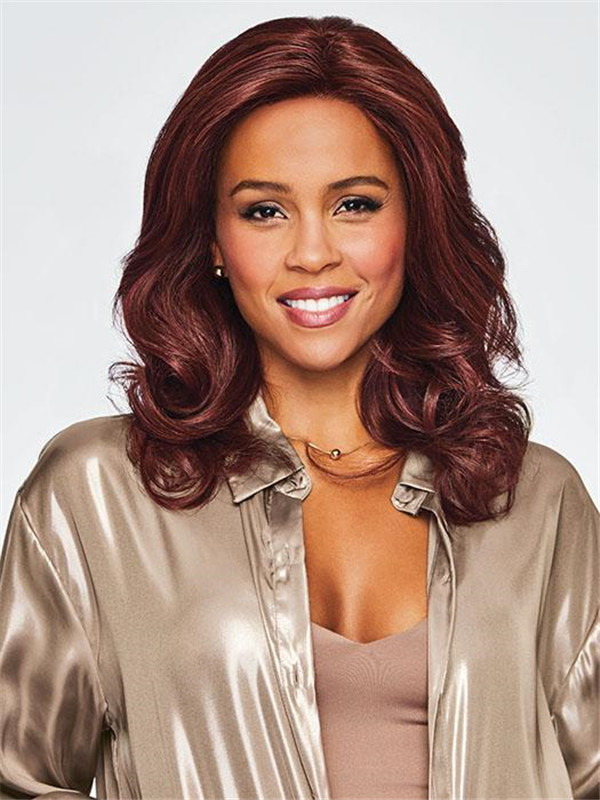 Long Straight Wavy Hf Synthetic Lace Front Wig Mono Part For Women