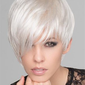 Short Straight Disc Synthetic Wig Mono Part For Women