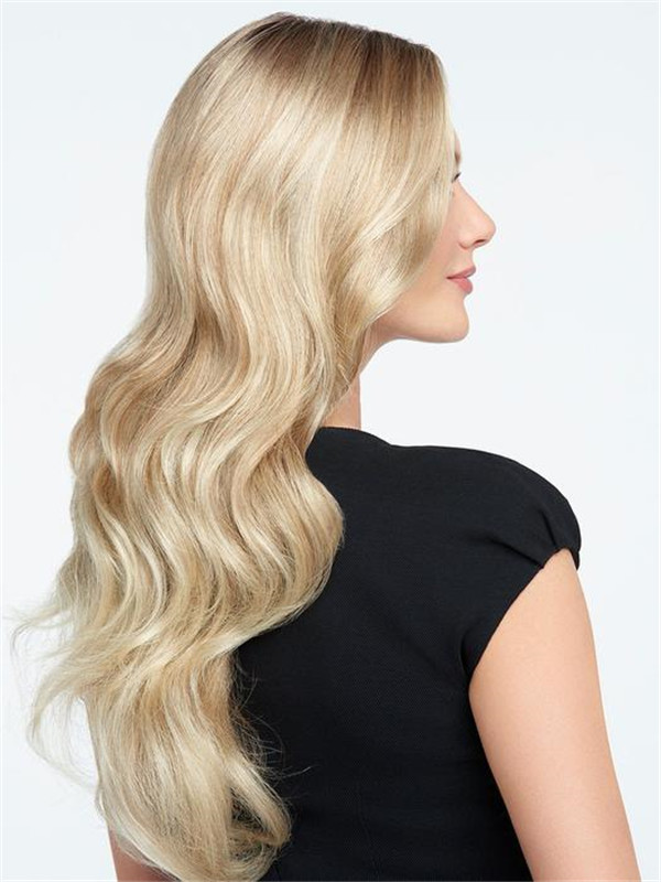 Wavy Long Synthetic Lace Front Wig Mono Top For Women