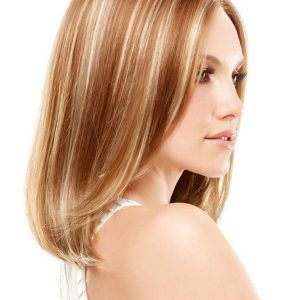Mid-length Women's Monofilament Synthetic Lace Front Wig Mono Top