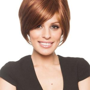 Short Monofilament Synthetic Wig Mono Top