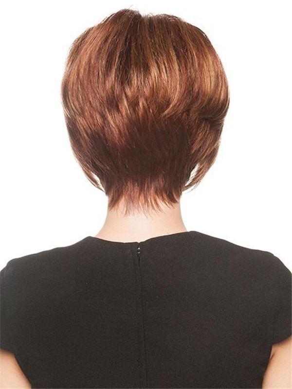 Short Monofilament Synthetic Wig Mono Top