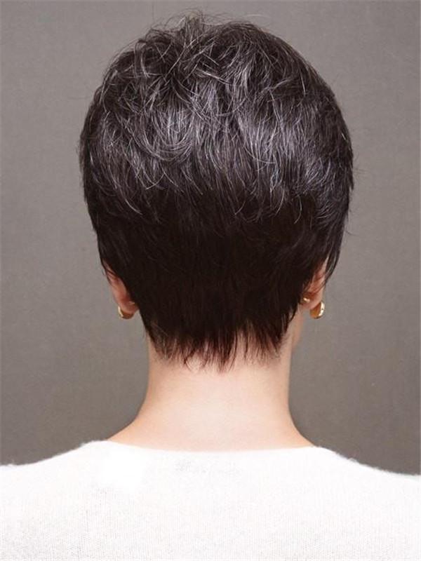 Short Brunette Eva Synthetic Wig Basic Cap
