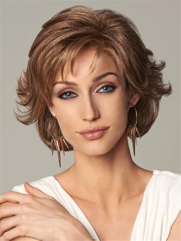 Curly Synthetic Lace Front Wig Mono Part