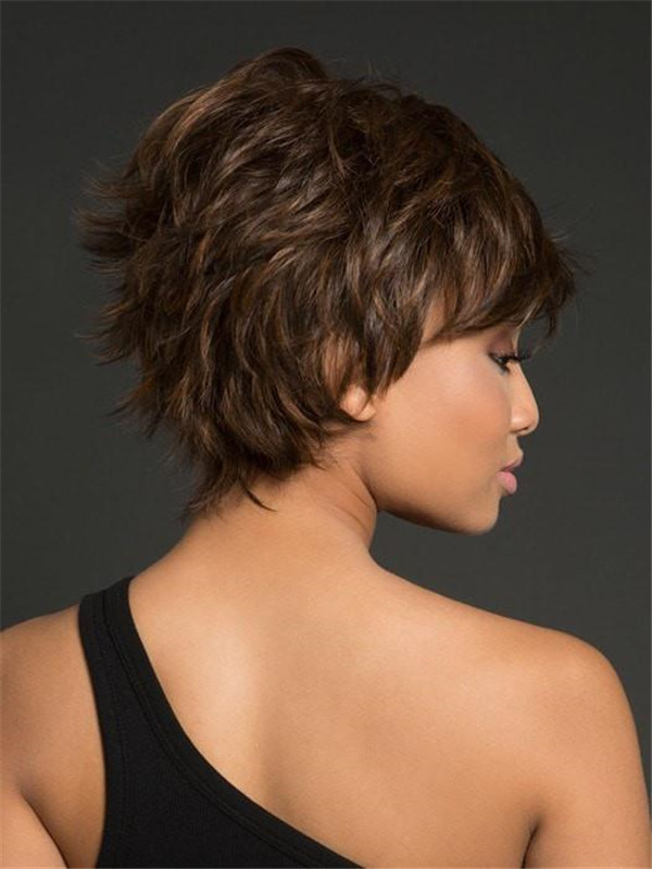 Straight Layered Hf Synthetic Wig Basic Cap For Women
