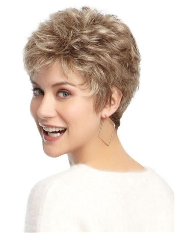 Straight Short Synthetic Wig Basic Cap For Women