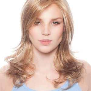 Long Brunette Synthetic Lace Front Wig Mono Top