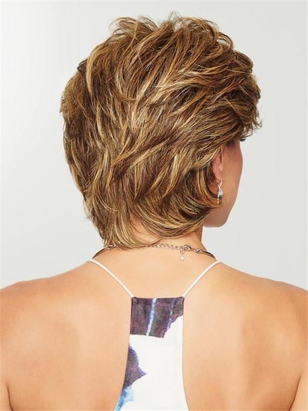 Short Brunette HF Synthetic Wig Basic Cap For Women