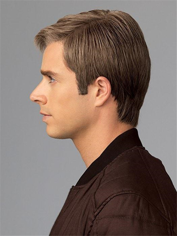 Short Monofilament HF Synthetic Lace Front Wig Mono Top