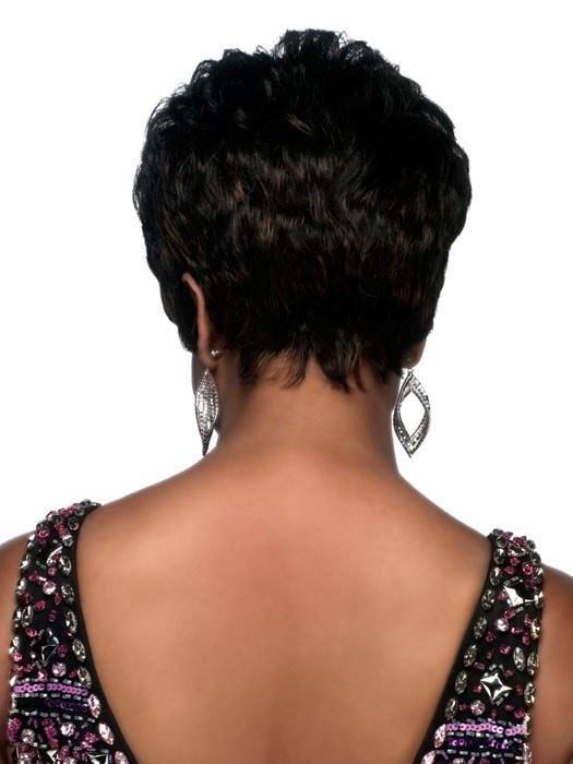 Short African American Human Hair Wig Basic Cap