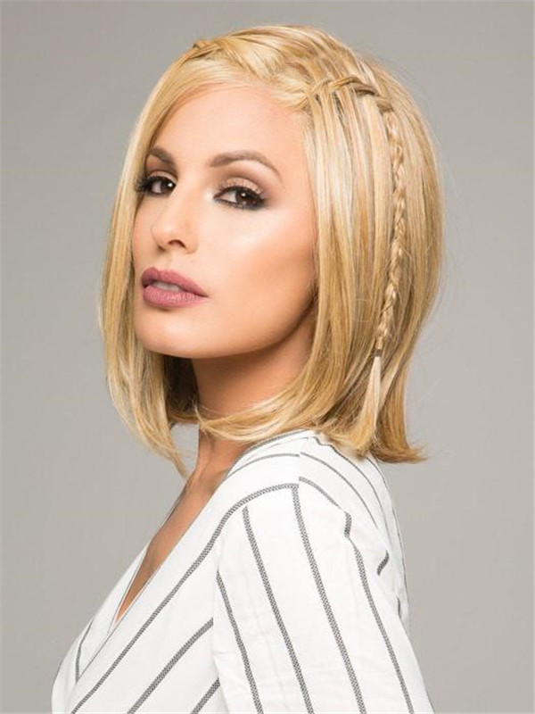 Straight Rooted Hf Synthetic Lace Front Wig Mono Part