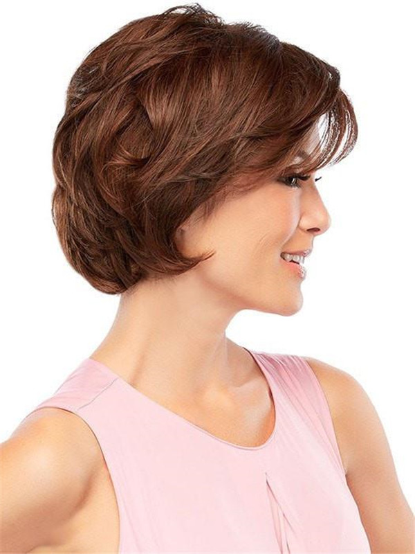 Short Hf Synthetic Lace Front Wig Basic Cap