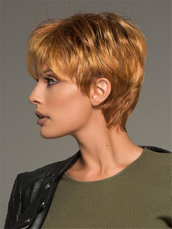 Short Straight Lace Front Synthetic Wig Mono Crown For Women