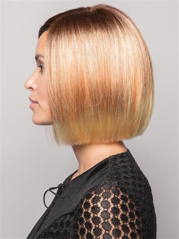 Short Brunette Synthetic Lace Front Wig For Women