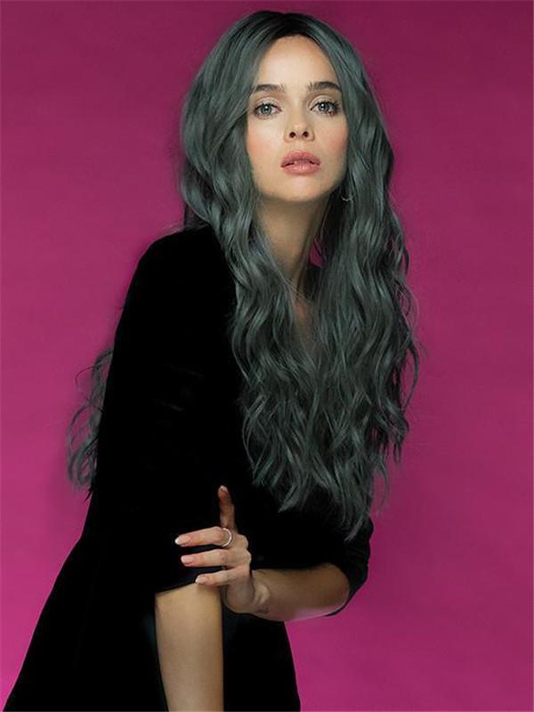 Wavy Long Lavish Wavez Hf Synthetic Lace Front Wig Mono Part
