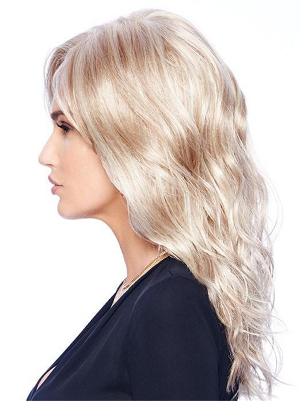 Long Straight Synthetic Lace Front Wig Mono Top For Women